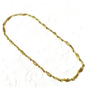 Vintage Wave Link Layering Necklace